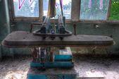 Old and abandoned laundry machine — Stock Photo