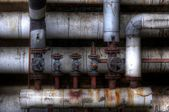 Old pipes with valves — Foto de Stock
