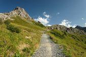 Turistika v alpách — Stock fotografie