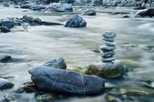 Stones on the river — Stock Photo
