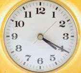 Old clock from the 70 — Stock Photo