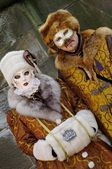 Disguised couple on Carnival — Stock Photo