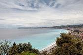 береговая линия ницца, франция — Стоковое фото