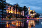 Promenade des Anglais and famous cassino in Nice France — Stock Photo