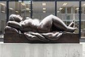 Statue of Reclining Woman by Fernando Botero — Stock Photo