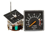 Automobile clock and tachometer — Stock Photo