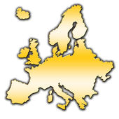Europe outline map — Stock Photo