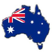 Stylized contour map of Australia — Stock Photo