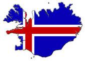 Stylized contour map of Iceland — Stock Photo