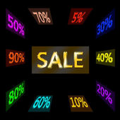 Word sale and reductions variety — Stock Photo