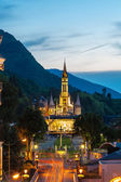 The Basilica of our Lady in Lourdes, France — Stock Photo