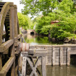 Stock Photo: Old wooden water mill