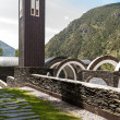 Постер, плакат: The modern church Meritxell in Andorra