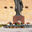Statue of Pope John Paul II in Lezajsk, Poland — Stock Photo