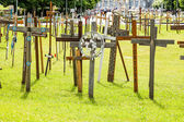 Crosses garden - Lourdes — Stock Photo