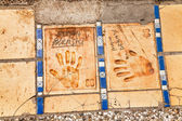 Imprints of hands in Cannes — Stock Photo