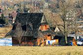 Contemporary wooden house in Zakopane — Stock Photo