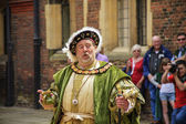 An actor portrays King Henry VIII — Stock Photo