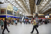 Inside view of Victoria Rail Station — Stock Photo