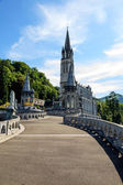 Basilica of the Rosary in Lourdes — Stock Photo