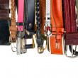 Royalty-Free Stock Photo: Various belts hanging