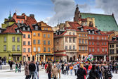Townhouses on the Castle Square in Warsaw — Stock Photo