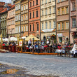 Townhouses and restaurants of the Old Town - Stock Photo