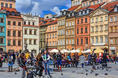 Tourists visits Old Town Square — Stock Photo