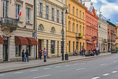 Tenements at the Nowy Swiat street — Stock Photo