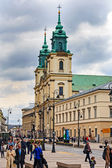 Holy Cross Church in Warsaw — Stock Photo