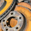 Stock Photo: Rusty brake discs