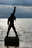 Freddie Mercury Statue in Montreux — Stock Photo