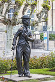 Charlie Chaplin statue — Stock Photo