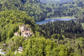 Hohenschwangau castle in the distance — Stock Photo