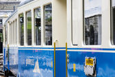 Montreux Oberland Bernois (MOB) train — Stock Photo