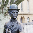 Charlie Chaplin statue closeup — Stock Photo #26833969