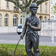 Charlie Chaplin statue in Vevey — Stock Photo #26833981