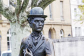Charlie Chaplin statue closeup — Stock Photo