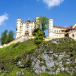 Hohenschwangau Castle on the hill — Stock Photo