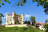 Hohenschwangau on the hill — Stock Photo