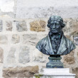 Bust of Doyen Bridel in Montreux — Stock Photo