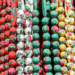 Beads made of different colored fabrics — Stock Photo