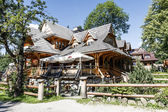 Zakopane style building of regional restaurant — Stock Photo