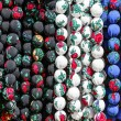 Beads made of varicolored fabrics — Stock Photo