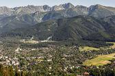 City of Zakopane, Ski jumps and Tatras — Stock Photo