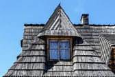 Traditional sloping roof in Zakopane — Stock Photo