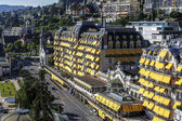Fairmont Le Montreux Palace Hotel in the daylight — Stock Photo