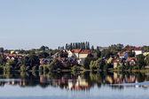 Mragowo, a city the Masurian Lake District, Poland — Stock Photo