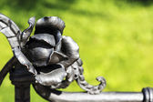 Hand forged metal rose — Stock Photo