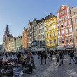 Stock Photo: Tenements in old Market Square in Wroclaw